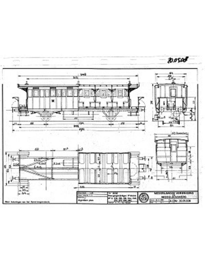 NVM 20.05.008 D-rijtuig 3e kl. 228, 230-235 HIJSM voor spoor 0