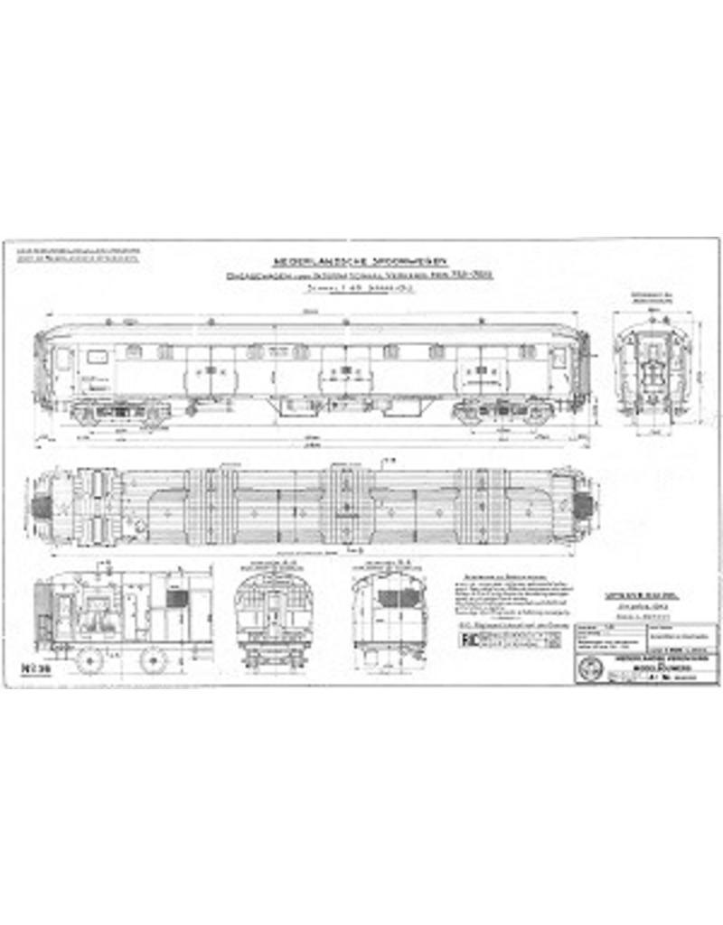 NVM 20.05.032 Bagagewagen voor internationaal verkeer NS 7521-7525 voor spoor 0