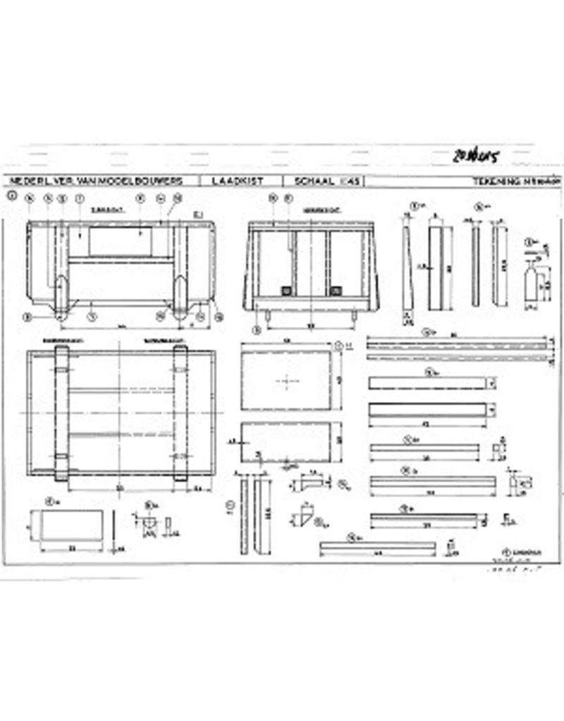 NVM 20.06.015 4-stands laadkistenwagen NS 94802 voor spoor 0