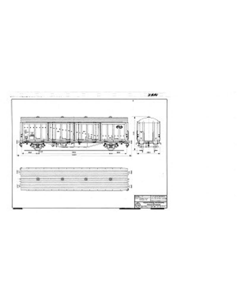 NVM 20.06.031 Talbot schuifwandwagen NS Hbis 2184 216 3 000 t/m 214 voor spoor I