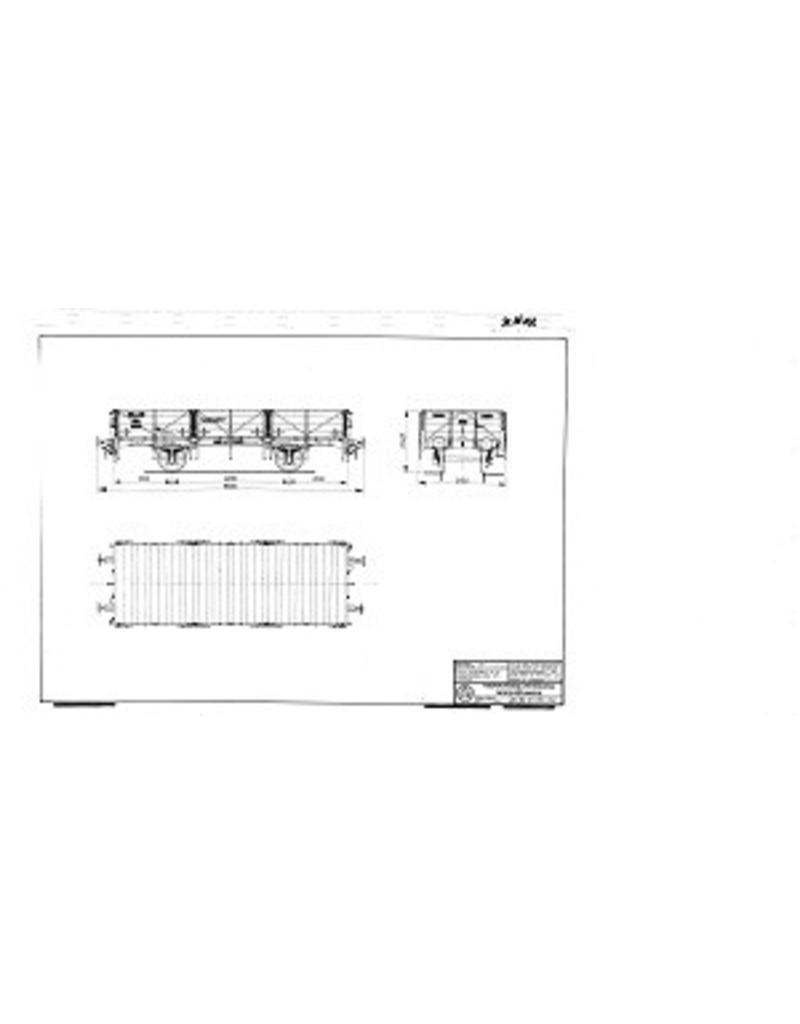 NVM 20.06.032 20 tons open goederenwagen HSM Gw 29001t/m 40; NS 174501-40 voor spoor I