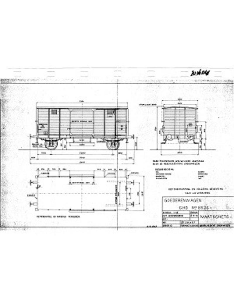 NVM 20.06.041 gesloten goederenwagen CHD 8526 voor spoor 0