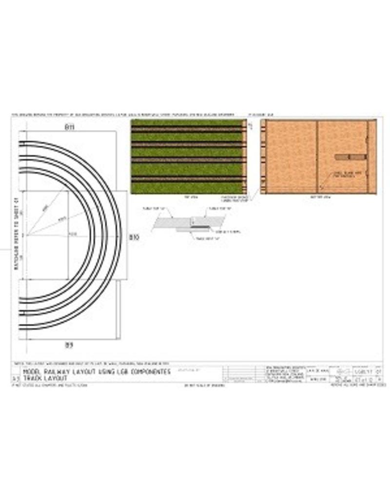 NVM 20.07.014 LGB Spoortafel (45 mm spoor)