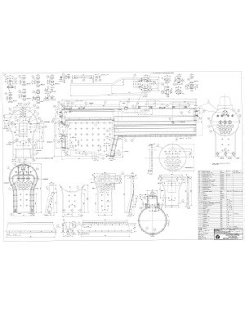 """NVM 20.20.011 Locomotiefketel voor BR38 / P6 van koper, voor spoor 5"""""""