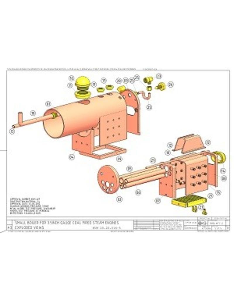 """NVM 20.20.016 Kleine kolengestookte ketel voor locomotief op 3,5"""" spoor"""