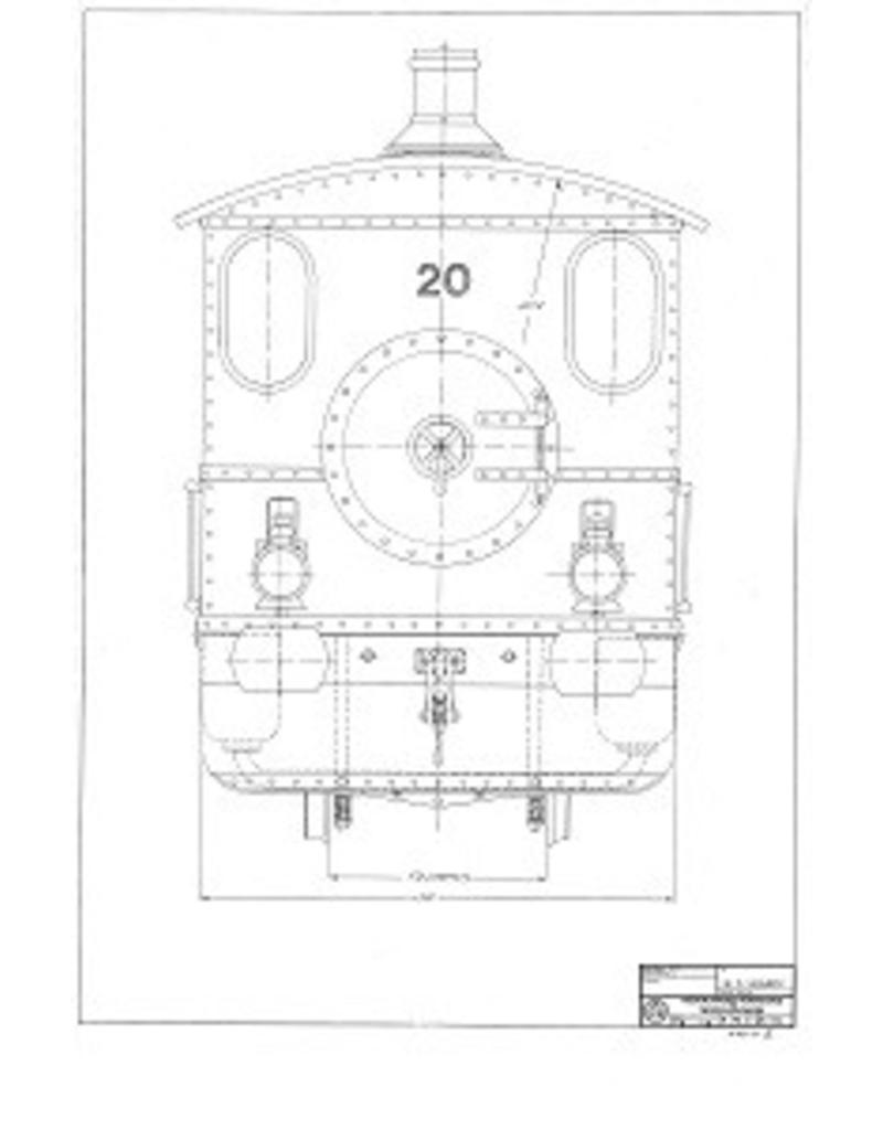 """NVM 20.20.022 WSM stoomtramlocomotief 15 - 20; voor spoor 7,25"""" (184 mm)"""