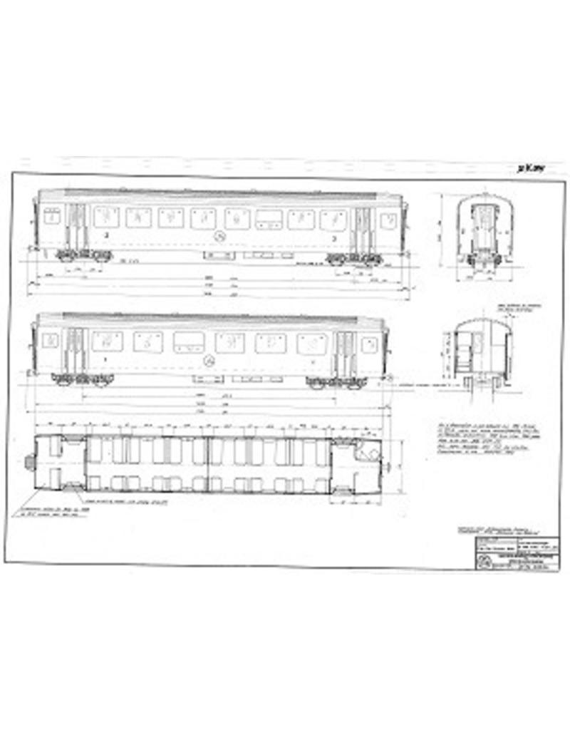 NVM 20.35.004 lichtmetaalrijtuig A 2071-74 Brisg-Visp-Zermatt-Bahn voor spoor 0