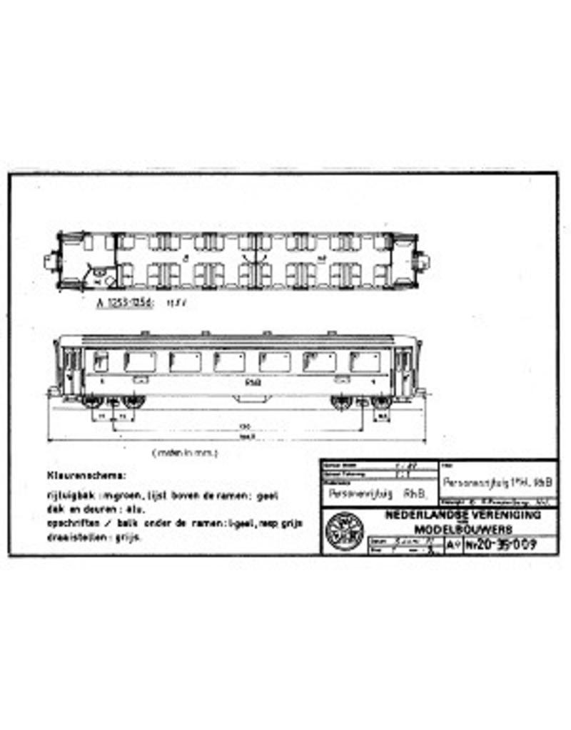 NVM 20.35.009 personenrijtuig A 1253-56 Rhaetische bahn voor spoor TT