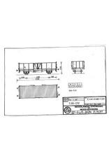 NVM 20.36.007 open goederenwagen E 0185.505 0000-2349 SBB-CFF voor spoor H0