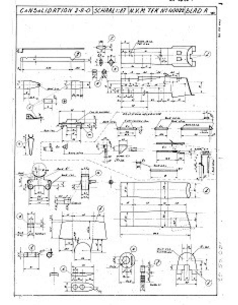 """NVM 20.50.001 2-8-0 locomotief """"Consolidation"""" voor spoor H0"""