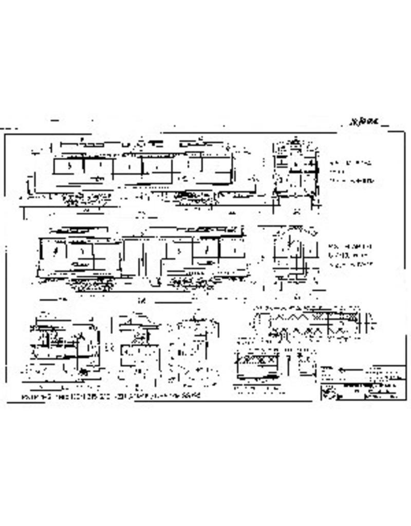 NVM 20.70.002 tramweglocomotief en rijtuigen NZHVM voor spoor 1