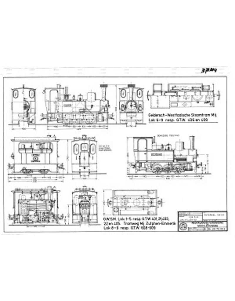 NVM 20.70.004 tramweglocomotieven GWSM en ZEGWSM 1-5 resp. GTW 401,21,403ZE 8-9, resp. GTW 608-609