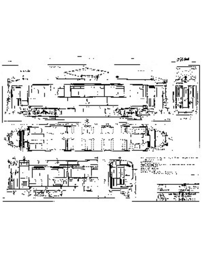 """NVM 20.73.010 motorrijtuig NZHVM A251-258 A260-263 - (""""Luxe Beynes"""", """"Pannebrood""""); met volgrijtuig B251"""