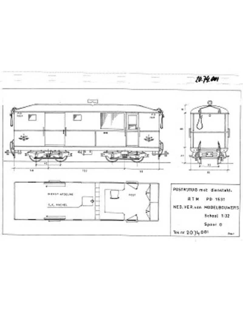 NVM 20.74.001 diesel tramtrein van de RTM voor spoor 0