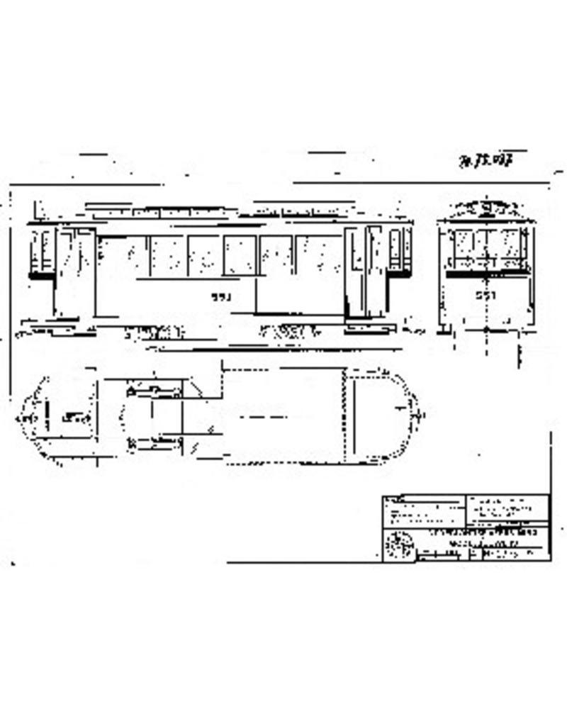 NVM 20.75.027 aanhangrijtuig HTM 550-570 (1907) en verb. 1943 voor spoor I