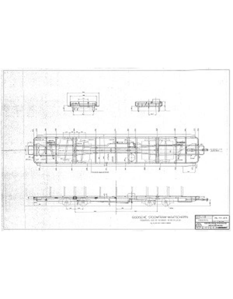NVM 20.75.032 aanhangrijtuig Gooische Stoomtram AB 33-36 (Werkspoor 1910) en 43-46 (Allan, 1920)
