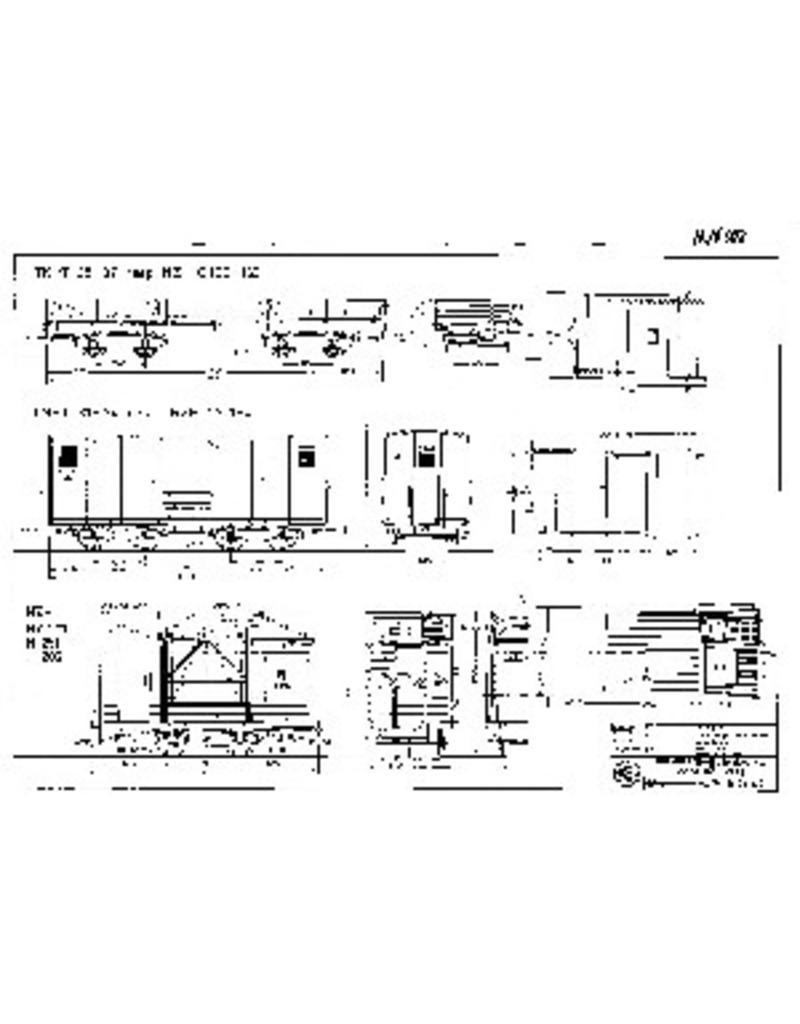 NVM 20.76.002 goederenwagens en werkwagens NZHVM; NZH C160-163, NZH CY1-4, NZH HY20, H251 en H202