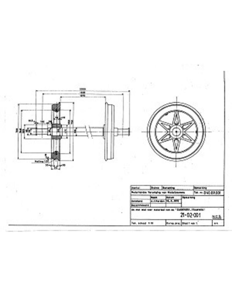 NVM 21.02.001 wielen voor trammaterieel Zuiderzeetramweg