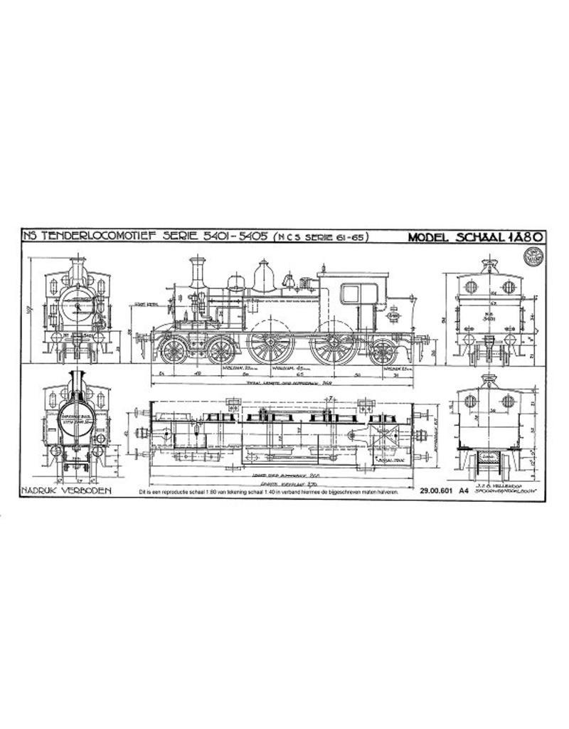 NVM 29.00.601 stoomlocomotief NS 5401 - 5405