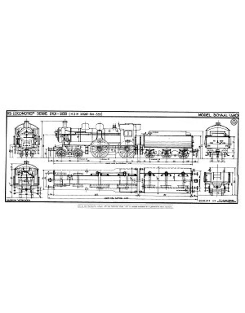 NVM 29.00.614 stoomlocomotief NS 2101 - 2135