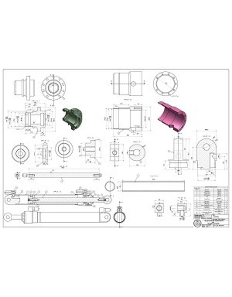 NVM 40.05.001 Hydraulische hefcilinder voor lepelgraafmachine