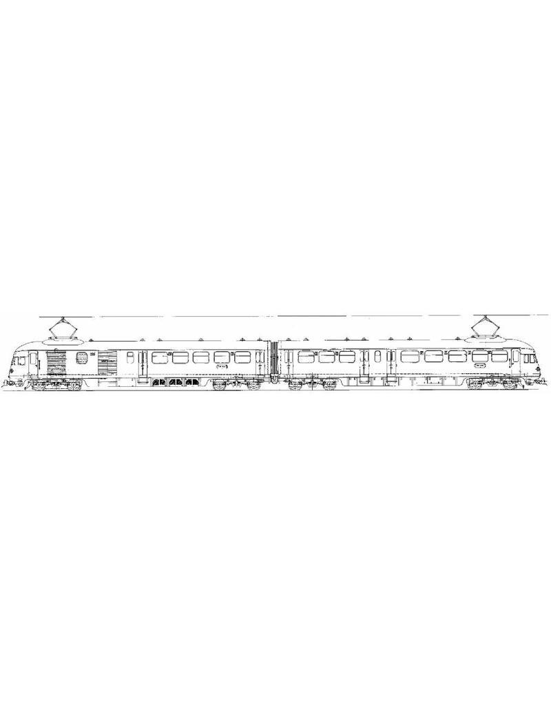 NVM 29.03.062 El. 2-wagentrein type 1943, Serie 301-315 voor Spoor 0