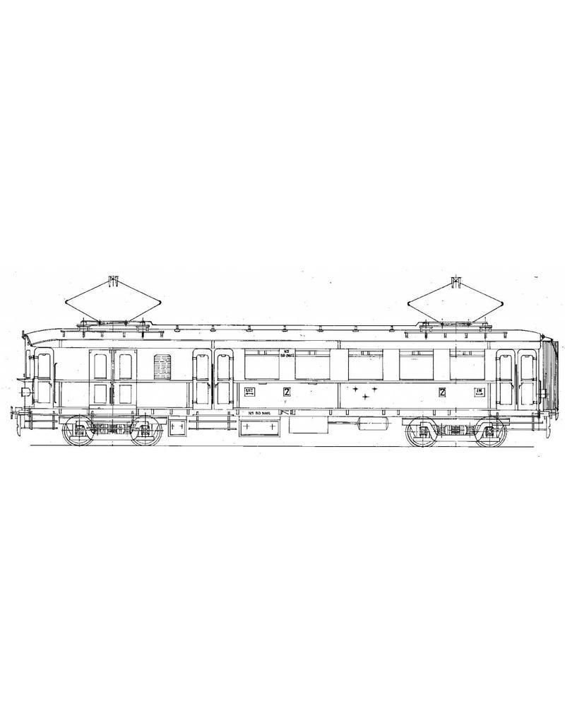 NVM 29.03.232 EL. motorrijtuig 2e klasse met bagage afdeling BD 9101-9130 voor Spoor 0