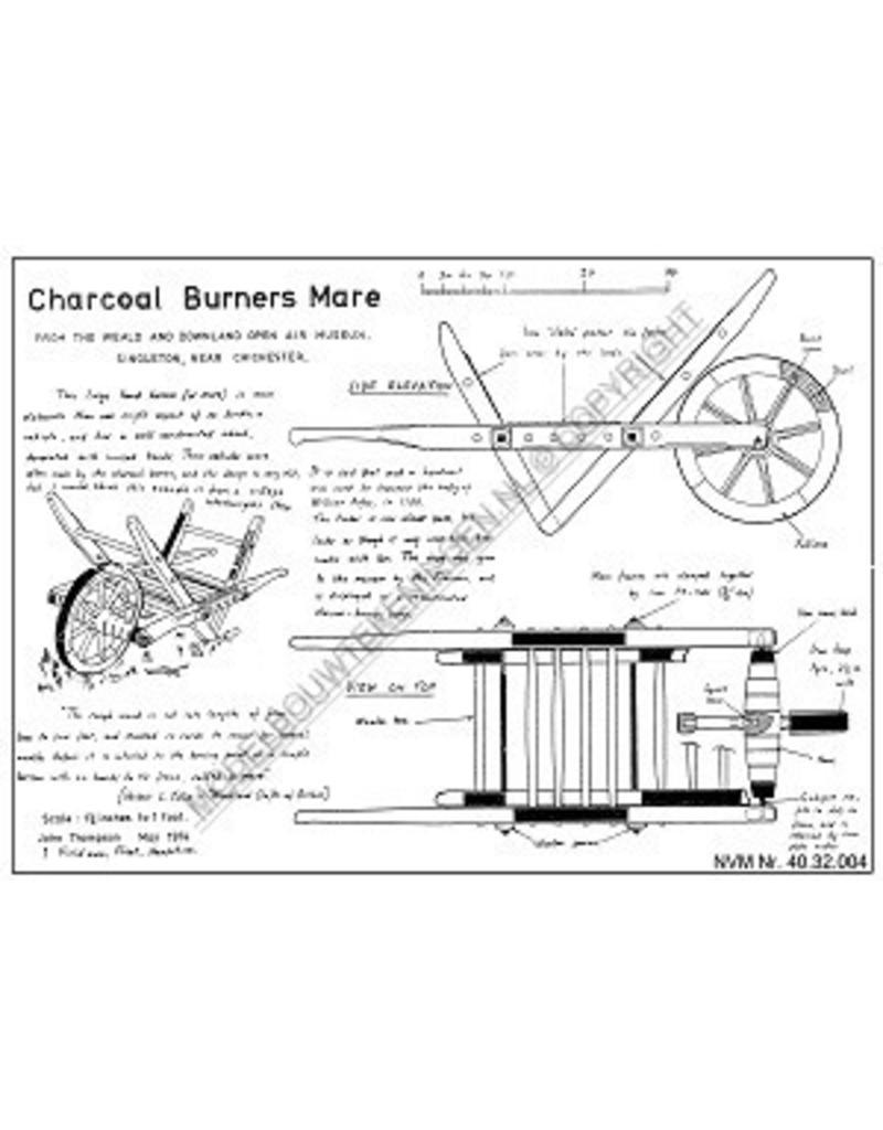 NVM 40.32.004 houtskool branders kruiwagen