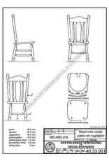 NVM 40.33.001 stoel met ronde poten