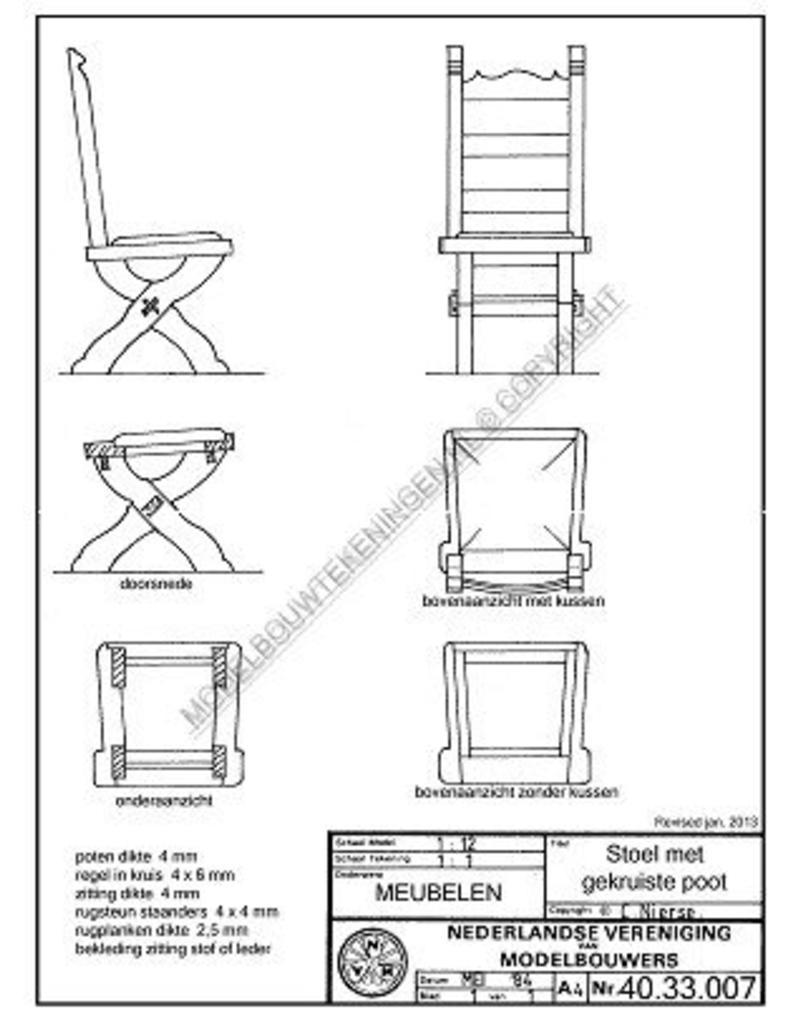 NVM 40.33.007 stoel met kruispoot