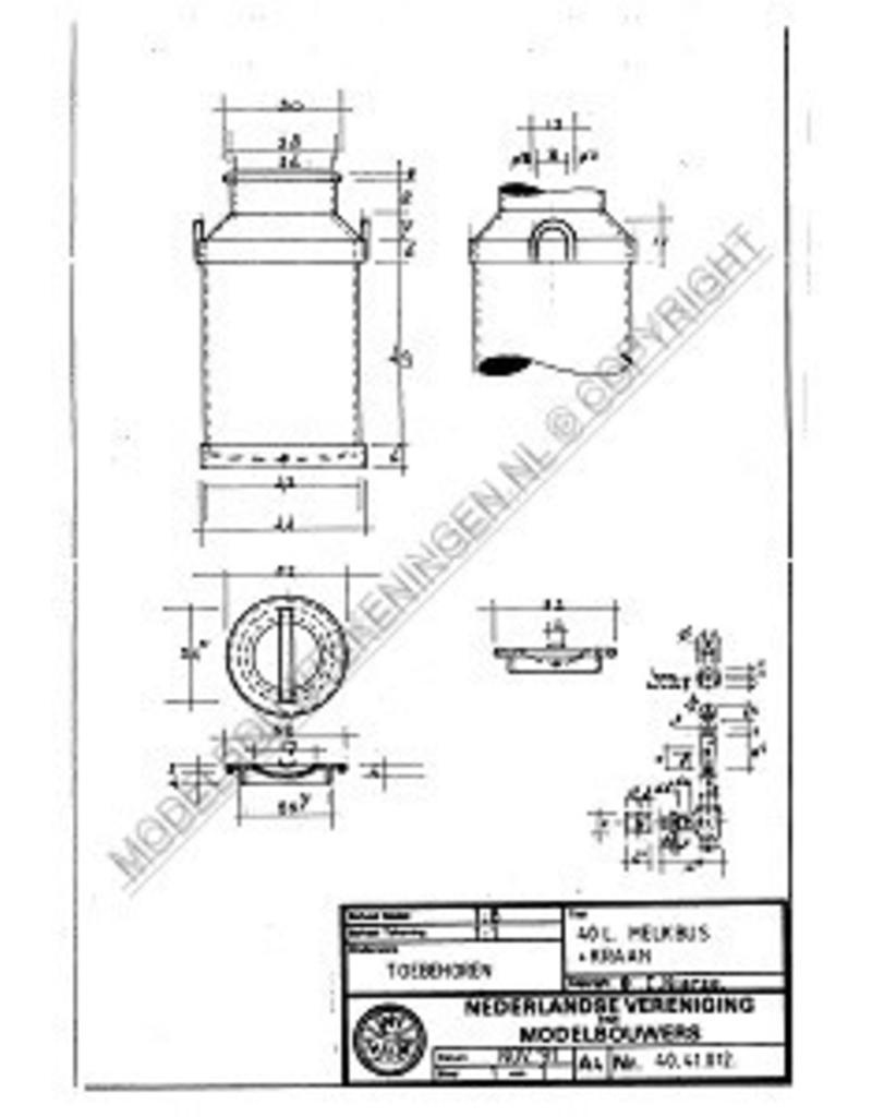 NVM 40.41.012 melkbus met kraan 40 liter