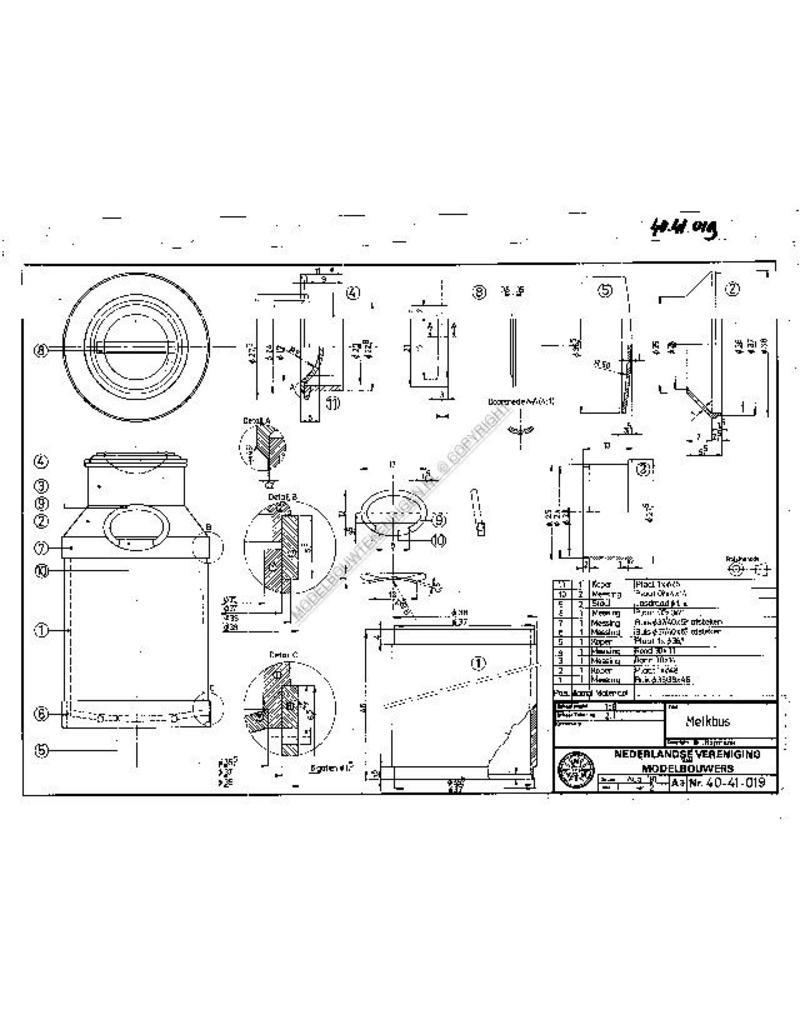 NVM 40.41.019 melkbus en gereedschappen