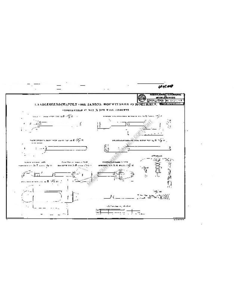 NVM 40.45.018 laadgereedschap voor kanonnen, houwitsers en mortieren