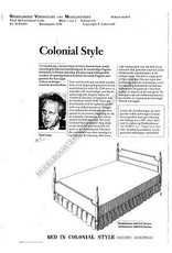 NVM 45.04.001 bed in colonial stijl