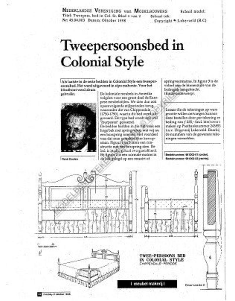 NVM 45.04.003 tweepersoonsbed in colonial stijl