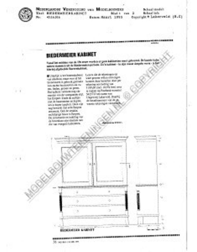 NVM 45.16.016 Biedermeierkabinet