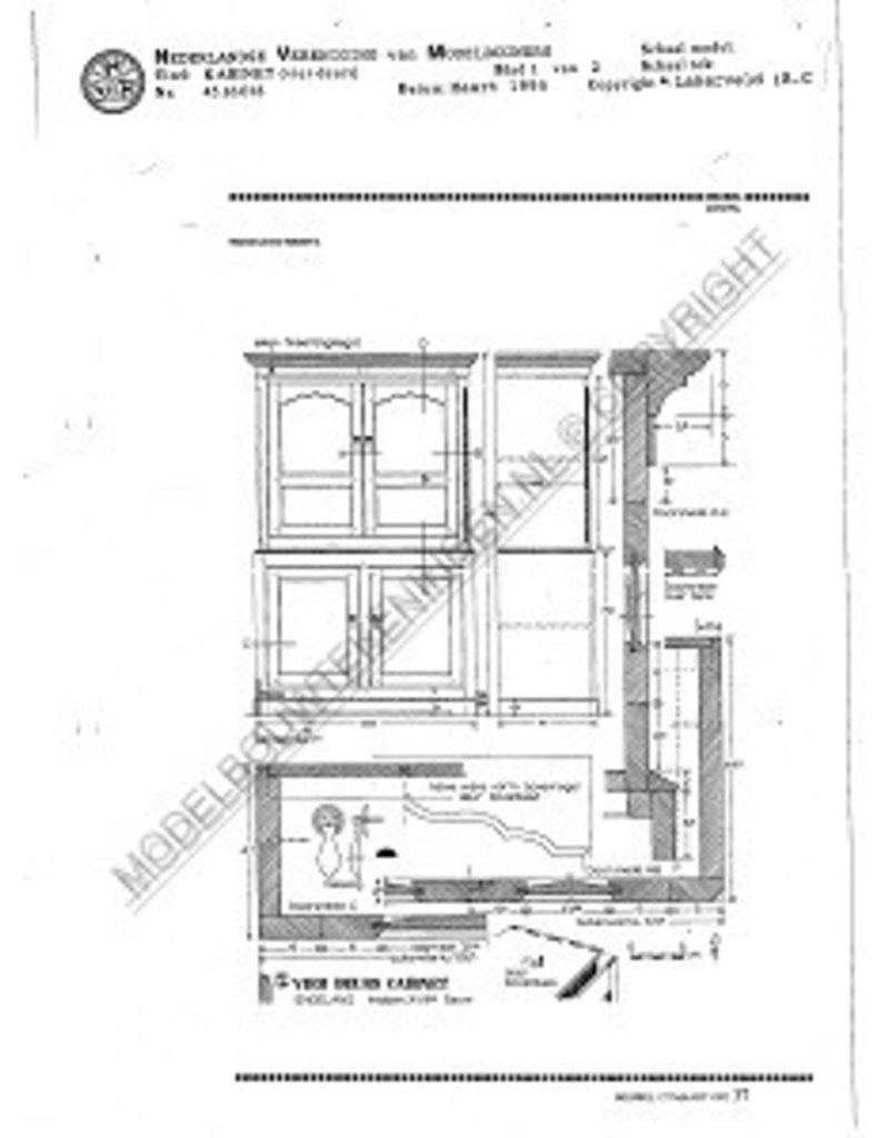 NVM 45.16.018 vierdeurs kabinet