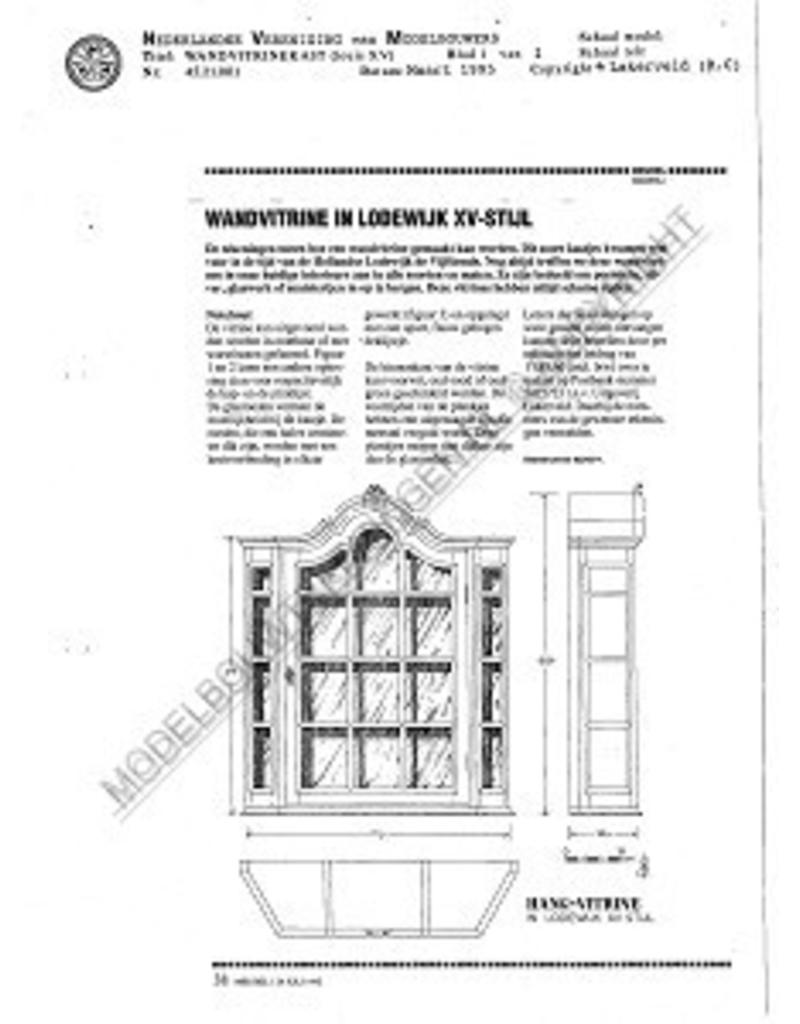 NVM 45.21.001 Louis XV wandvitrinekast