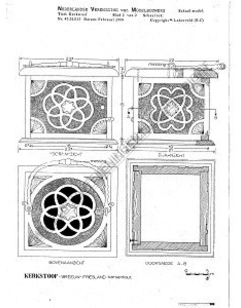 NVM 45.26.015 friese kerkstoof, 18e eeuw