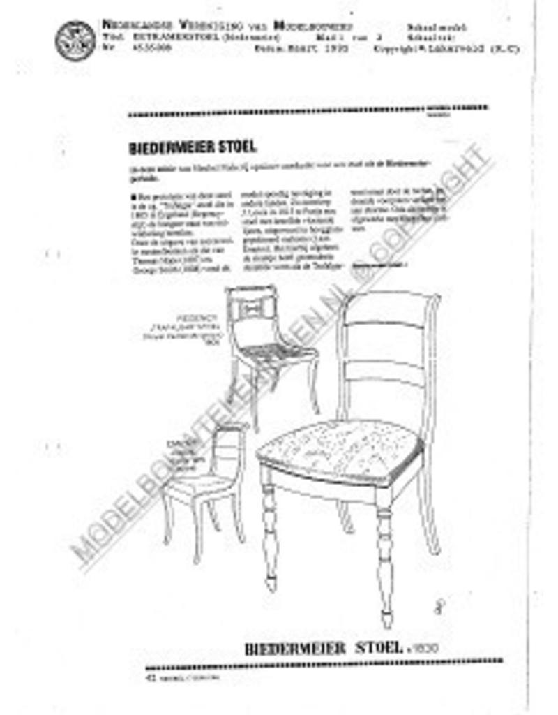 NVM 45.35.008 Biedermeier eetkamerstoel