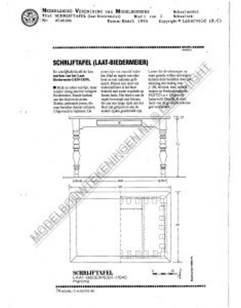 NVM 45.40.006 laat-Biedermeier schrijftafel