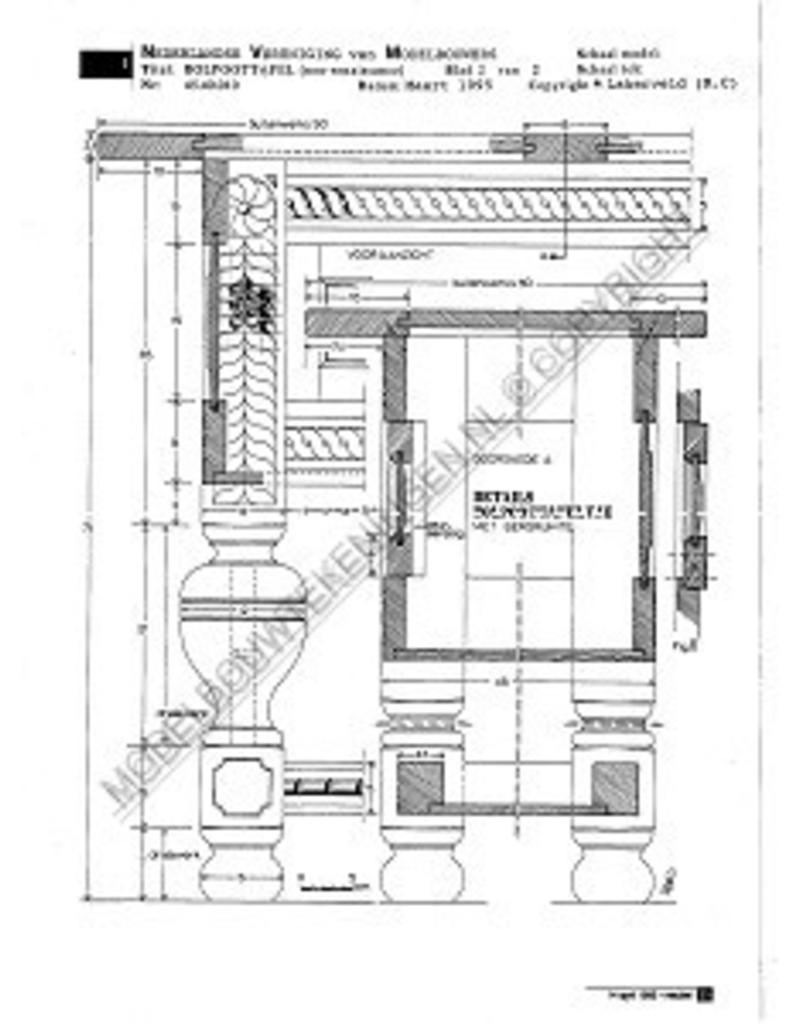 NVM 45.40.010 neo-renaissance bolpoottafel