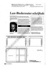 NVM 45.40.018 laat-Biedermeier schrijftafel