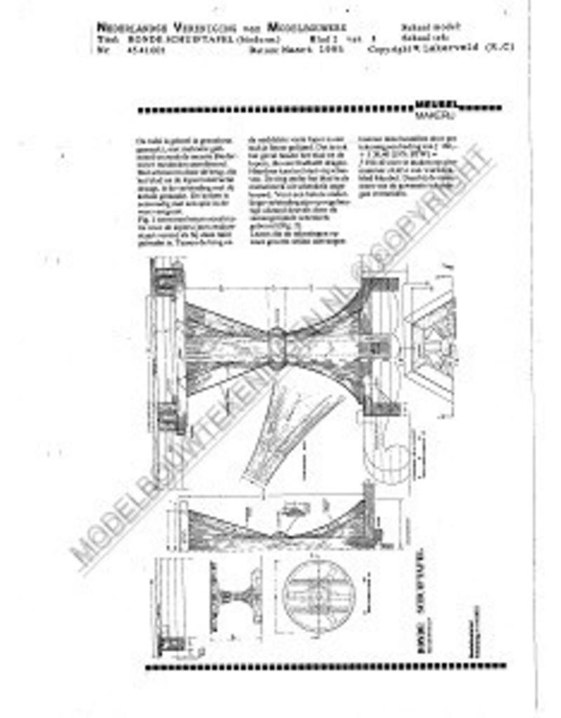 NVM 45.41.001 Biedermeier ronde schuiftafel