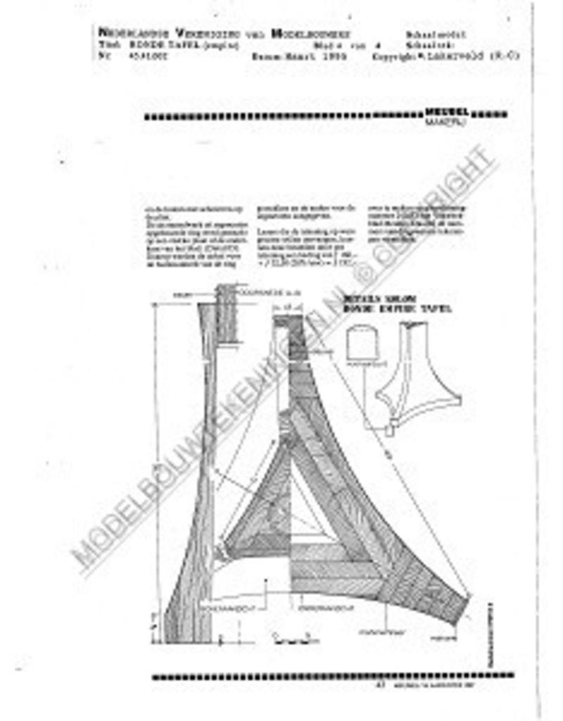 NVM 45.41.003 Regency ronde coulissentafel