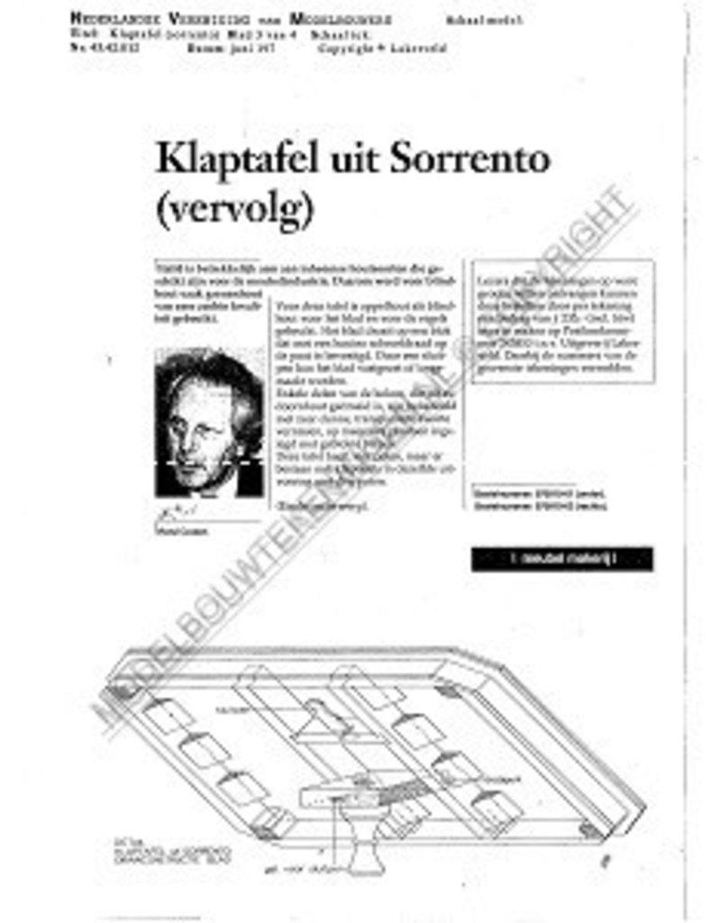 NVM 45.42.012 klaptafel uit Sorrento