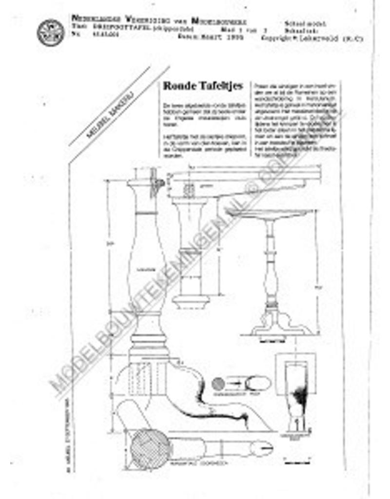 NVM 45.43.001 Chippendale driepoottafel