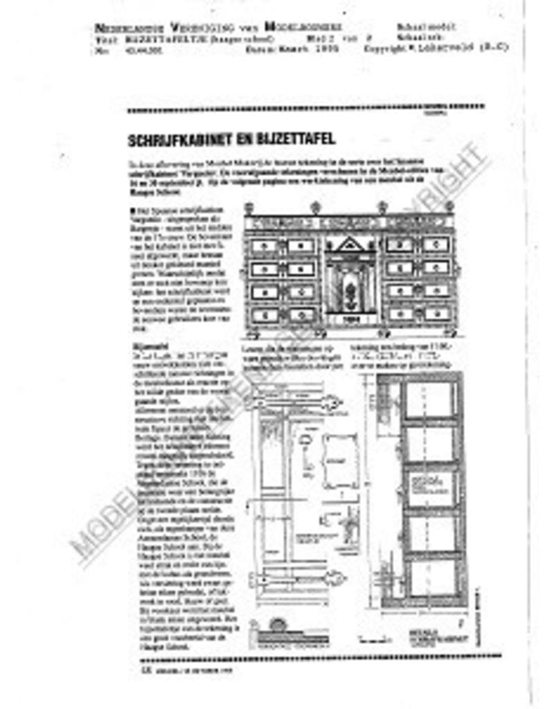 NVM 45.44.001 bijzettafeltje, Haagse school