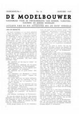 """NVM 95.37.001 Jaargang """"De Modelbouwer"""" Editie : 37.001 (PDF)"""