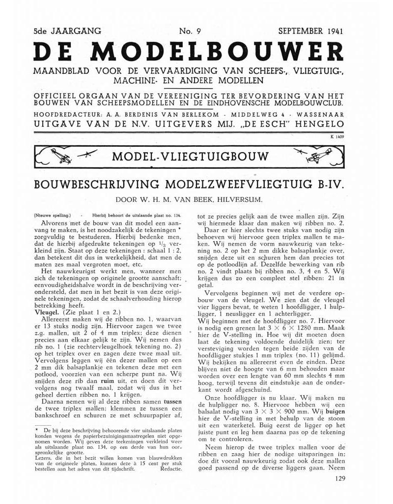 """NVM 95.41.009 Jaargang """"De Modelbouwer"""" Editie : 41.009 (PDF)"""